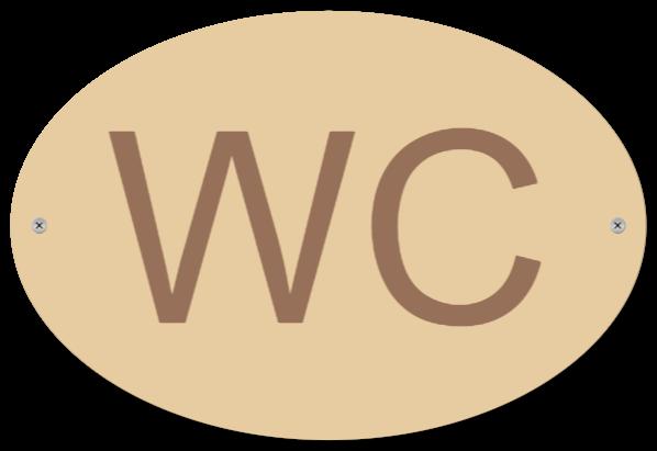 wc skylt som TRÄSKYLT
