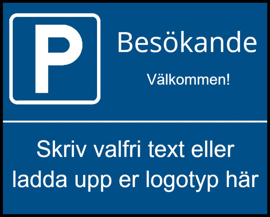 parkeringsskyltar som Plastskylt