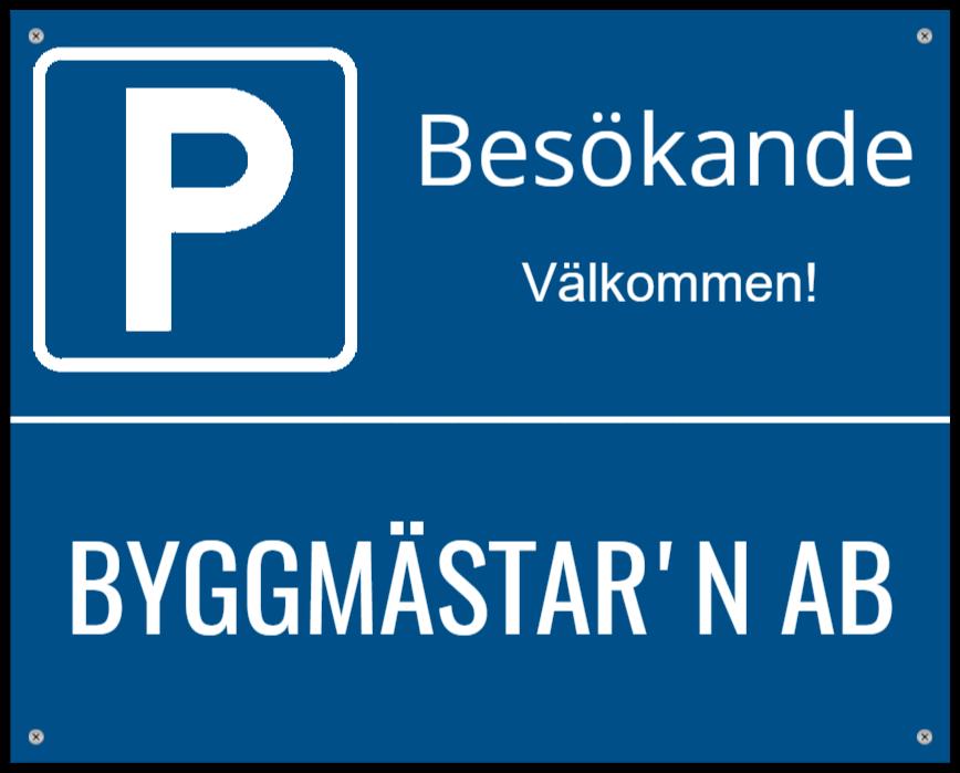 parkeringsskyltar som Aluminiumskylt