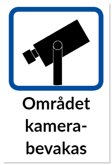 skylt kameraovervakning
