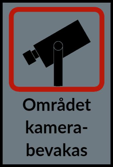 skylt kameraovervakning som dekal