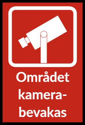 skylt kameraovervakning som plastskylt