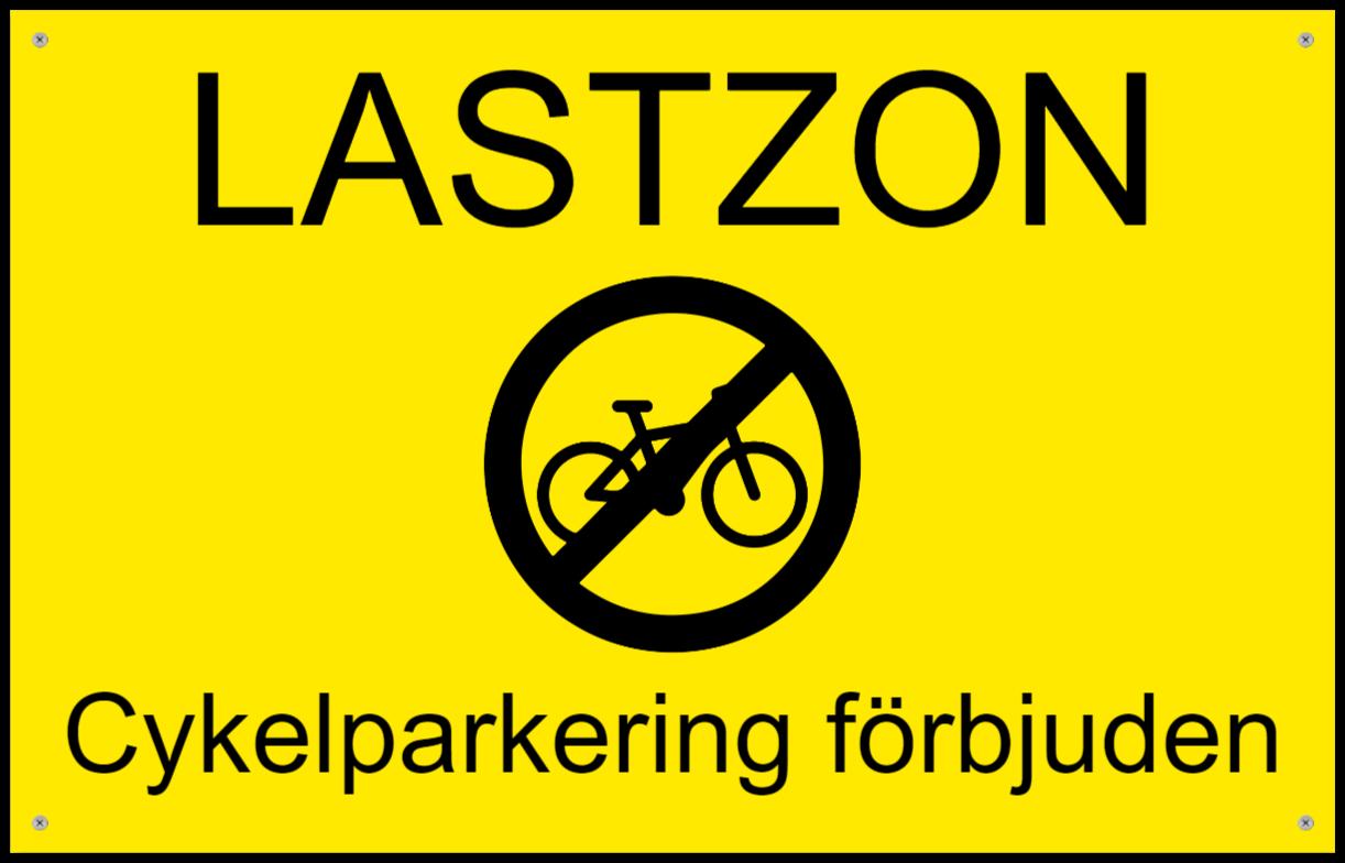 varningsskyltar som Plastskylt