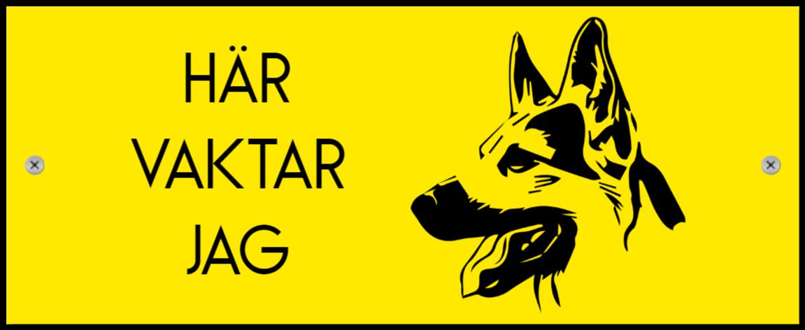 varning for hunden som Plastskylt