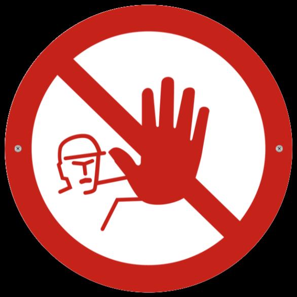 forbudsskyltar som Plastskylt