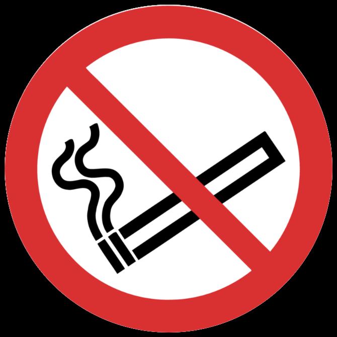 rokning forbjudet skyltar som Klistermärke