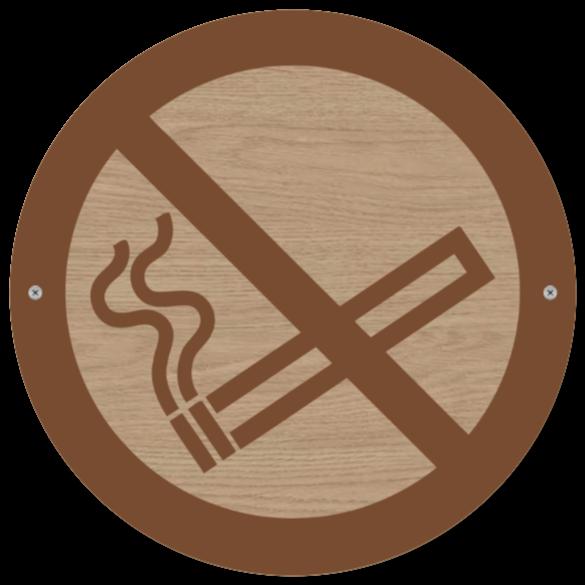 rokning forbjudet skyltar som Träskylt